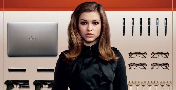 Sophie Cookson, Roxy, Kingsman: The Golden Circle, actress, movie wallpaper