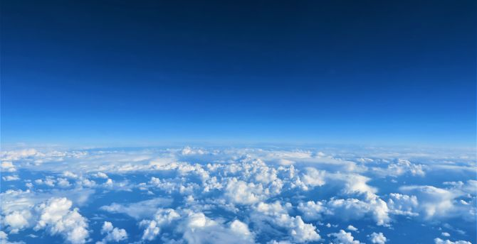 Desktop Wallpaper Blue Sky Above Clouds Hd Image