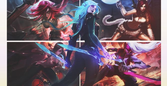 Desktop Wallpaper Katarina League Of Legends Game Hd