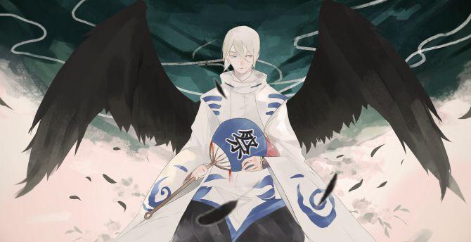 Desktop Wallpaper Ootengu Dark Angel Onmyouji Video Game