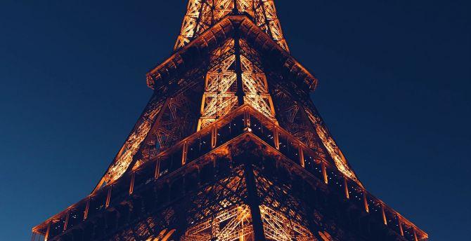 Desktop Wallpaper Eiffel Tower City Paris Night Architecture Hd Image Picture Background 778614