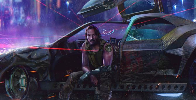 Desktop Wallpaper Cyberpunk 2077 Keanu Reeves Video Game 2019 Hd Image Picture Background 786903