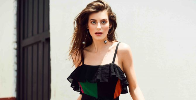 Alejandra Guilmant, brunette, model wallpaper