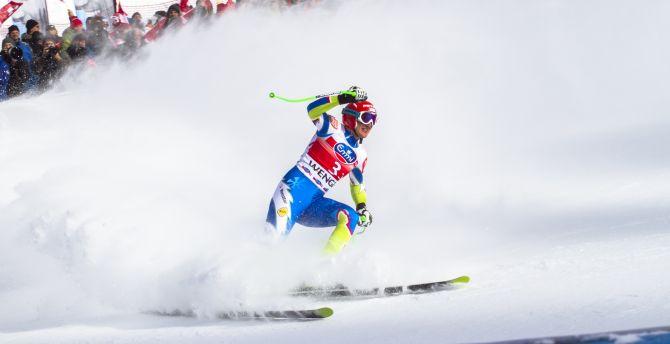 Ski race, sports, snow wallpaper