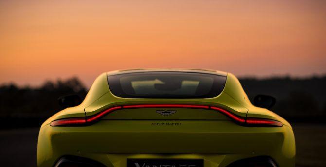 Aston Martin V8 Vantage, 2018 car, rear wallpaper