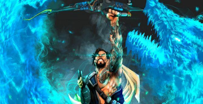 Archer, hanzo, overwatch, online game wallpaper