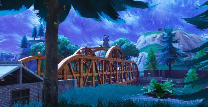 Desktop Wallpaper Bridge, Video Game, Fortnite, Hd Image, Picture,  Background, 7facbb