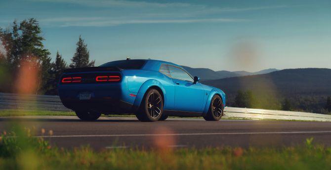 Desktop Wallpaper Dodge Challenger Srt Hellcat Rear Redeye Muscle Car Hd Image Picture Background 825f9f