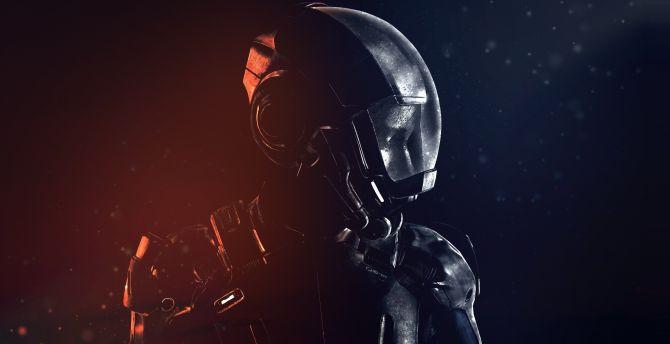 Desktop Wallpaper Mass Effect Andromeda Sara Ryder Armour Suit