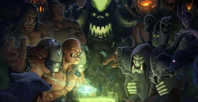 Hearthstone: heroes of warcraft, play, video game wallpaper