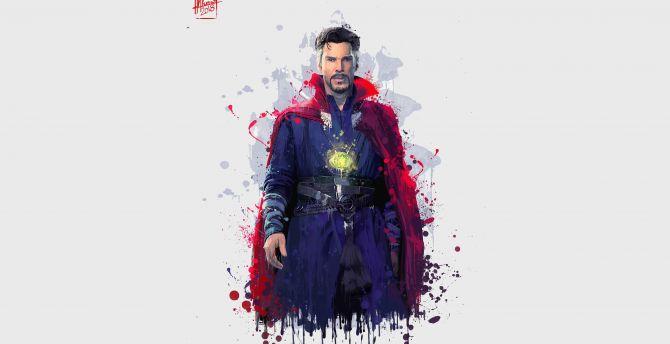 Doctor Strange, Avengers: infinity war, artwork wallpaper