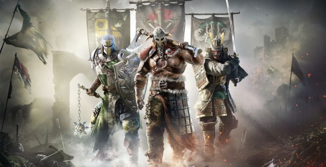 For Honor, video game, warriors, banners wallpaper