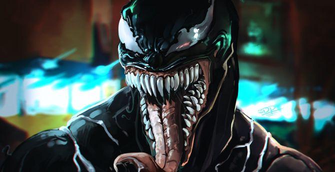 Desktop Wallpaper Venom Villain Movie Art 2018 Hd Image