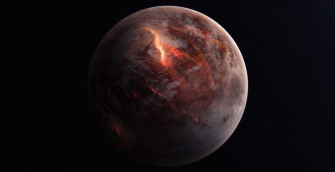 Planet, destruction, space wallpaper