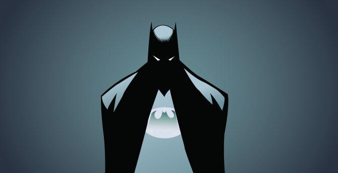 Batman, minimalism, illustrator wallpaper