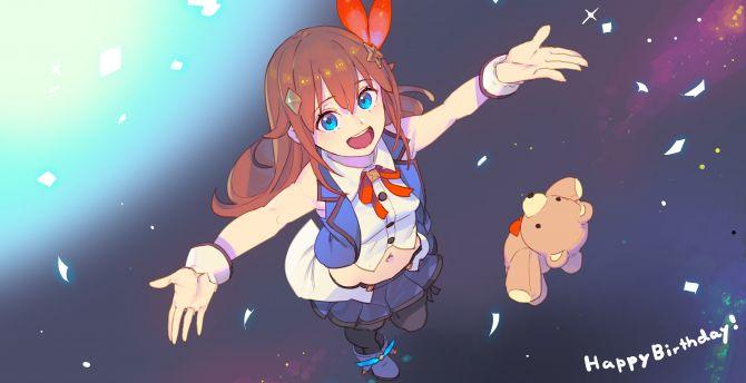 Anime girl, cute, Tokino Sora, Virtual Youtuber wallpaper