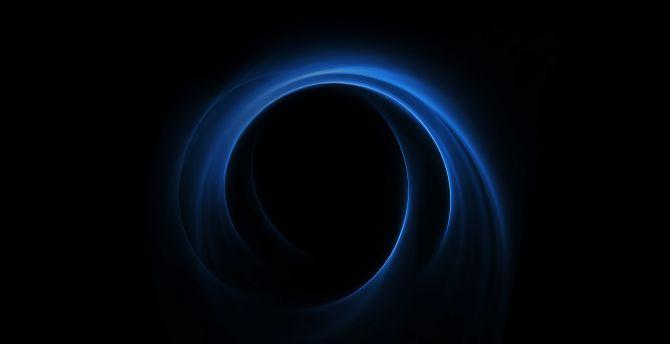 Dark, blue spiral, huawei honor v8, stock wallpaper