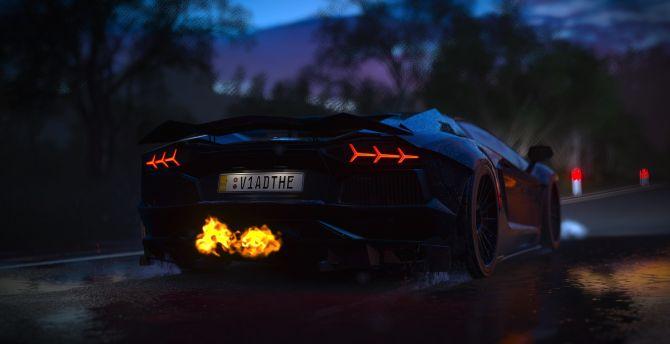 Forza Horizon 3, Lamborghini Aventador, Sports Car, Video Game Wallpaper