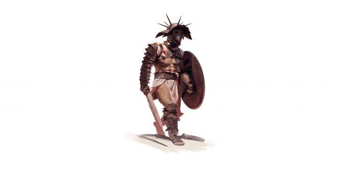Desktop wallpaper gladiator warrior minimal art hd image gladiator warrior minimal art wallpaper voltagebd Gallery