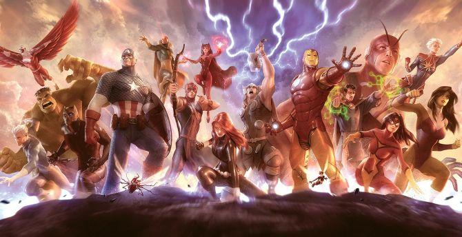 Avengers, superhero, artwork wallpaper
