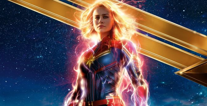 Desktop wallpaper captain marvel, 2019 movie, celebrity