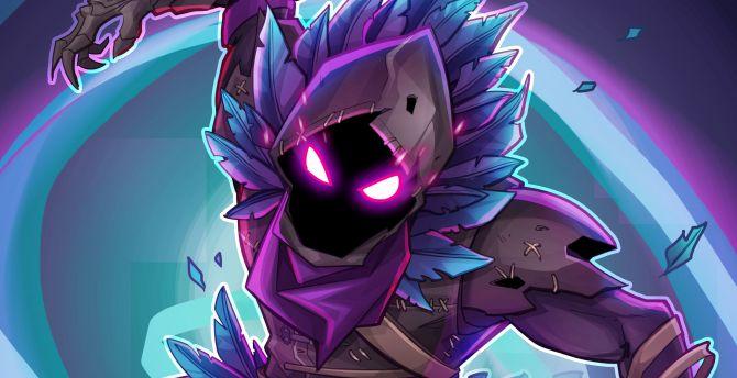 Desktop Wallpaper Raven Fortnite Battle Royale Creature