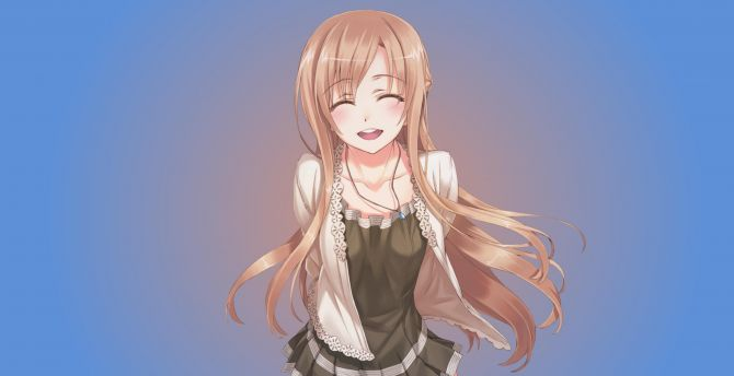Blonde Cute Anime Girl Sao Sword Art Online Asuna Yuuki Wallpaper