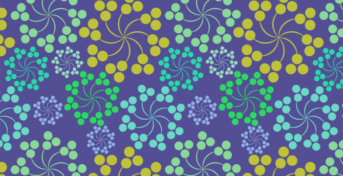 Patterns, circles, twisted, colorful wallpaper