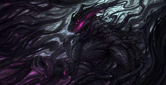 Desktop Wallpaper Dark Fantasy Creature Monster Art Hd Image