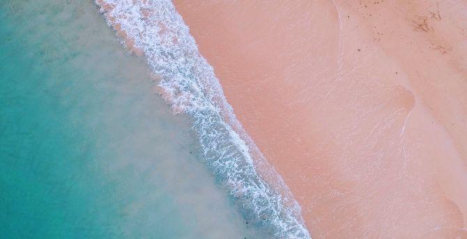 Desktop Wallpaper Nature Soft Sea Waves Aerial View