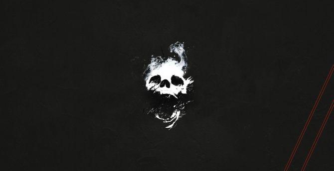 Desktop Wallpaper Skull Destiny 2 Minimal 2019 Game Hd