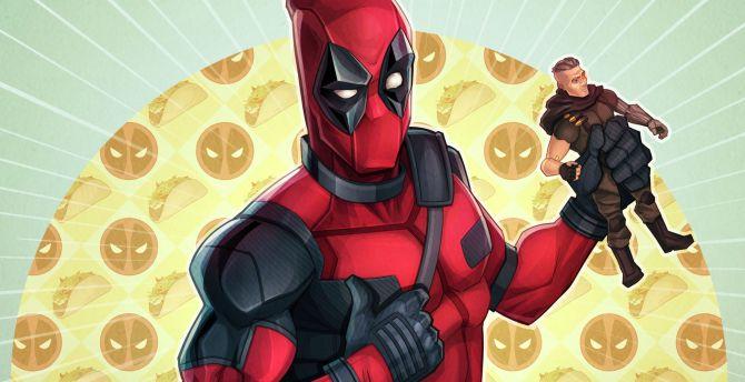 Deadpool 2, cable, toy, fan art, movie wallpaper