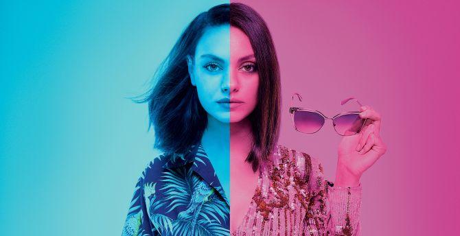 Mila Kunis, The spy who dumped Me, 2018 movie wallpaper