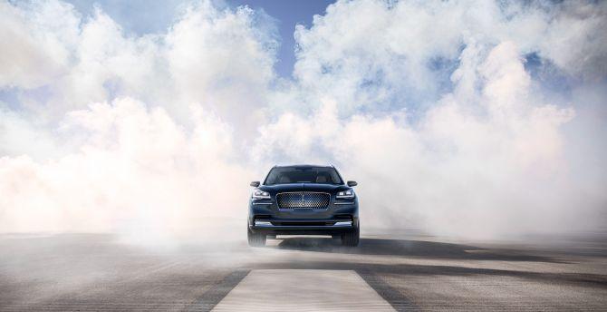 Desktop Wallpaper Lincoln Aviator Smoke 2018 Car Hd Image