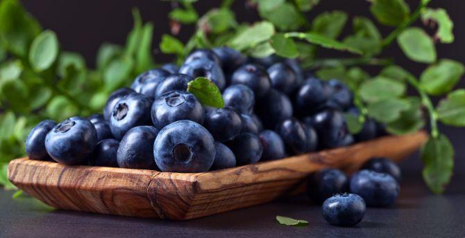Kitchen blueberries fruits