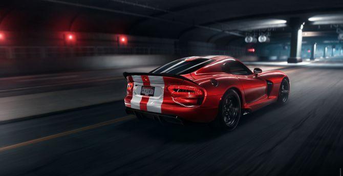 Desktop Wallpaper Dodge Viper Srt Dodge Car Artwork Hd Image