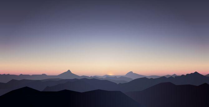 Popular Wallpaper Mountain Horizon - horizon-mountains-sunrise-5k  Snapshot_30685.jpg