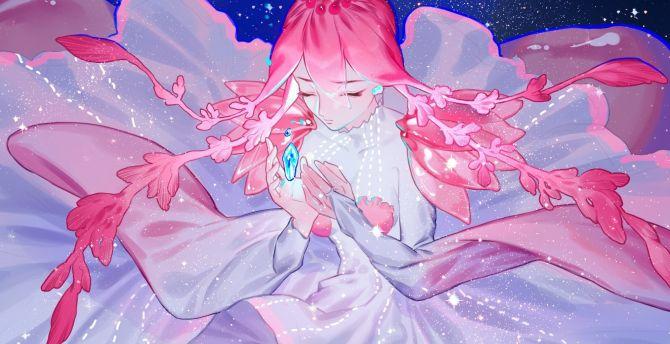 Desktop Wallpaper Pink Hair Anime Girl Houseki No Kuni Hd Image Picture Background A1df27