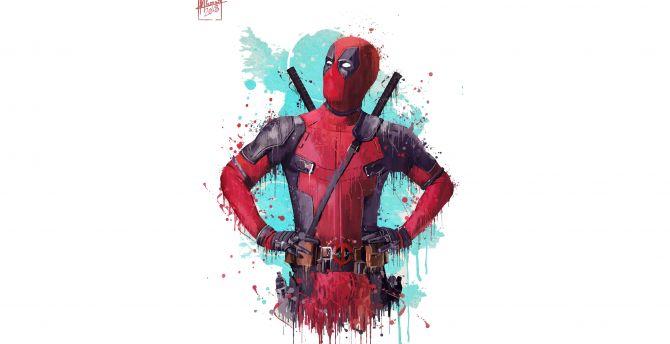 Deadpool 2, 2018 movie, fan artwork wallpaper