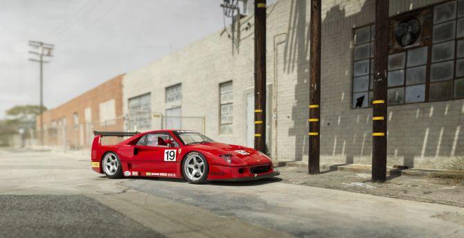 Desktop Wallpaper Sports Car Classic Ferrari F40 Hd Image Picture Background A2ecf7