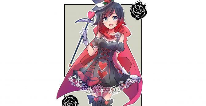 RWBY Ruby Rose Cute Wallpaper