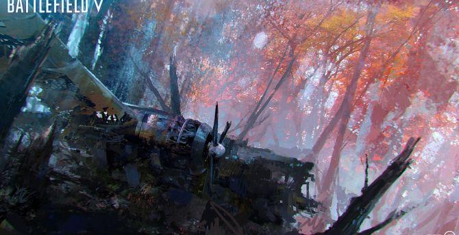 Desktop Wallpaper Wreck Aircraft Battlefield 5 Concept Art Hd Image Picture Background A569be