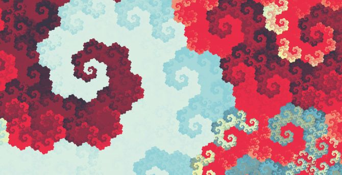 Fractal red pattern abstract