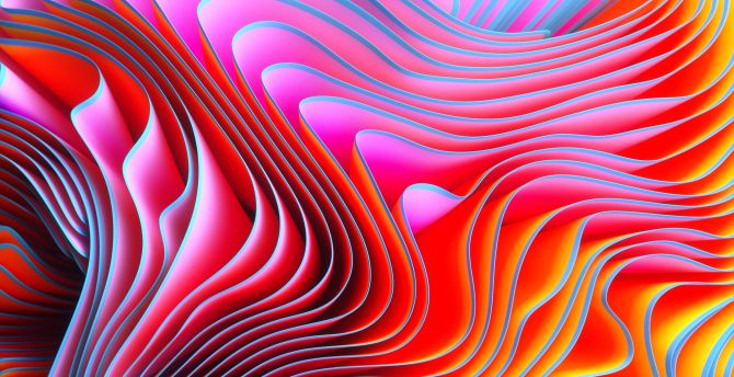 Desktop wallpaper pattern wavy, abstract, colorful texture, hd image,  picture, background, a70c00
