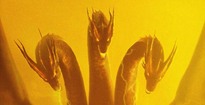 Desktop Wallpaper Three Head Dragon Godzilla King Of The Monsters