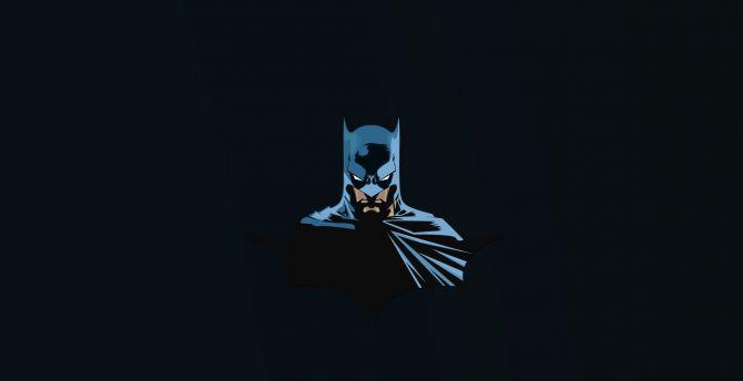 Batman, superhero, minimal wallpaper