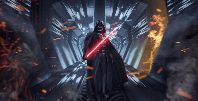 Desktop Wallpaper Darth Vader Star Wars Dark Forces Video Game Art Hd Image Picture Background A81655