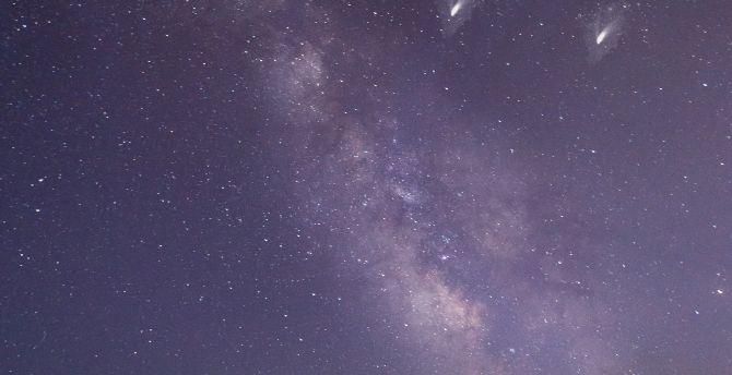 Milky way, desert, night, sky wallpaper