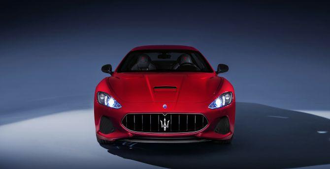 Maserati GranTurismo, sports car, front view wallpaper