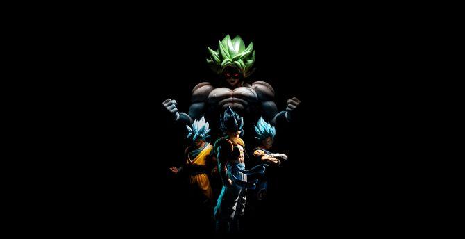 Desktop Wallpaper Goku And Broly Vegeta Gogeta Dark Hd Image Picture Background A9eca0